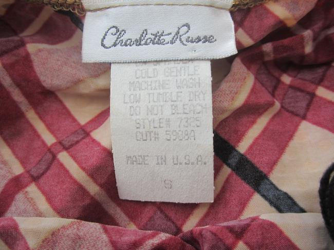 Charlotte Russe Red and Black Halter Top Image 2
