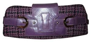 Banana Republic Leather Herringbone purple multi Clutch