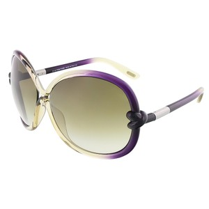 Tom Ford Tom Ford Light Olive/Shaded Plum Oversized Sunglasses