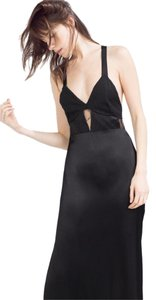 Zara Long Evening Wear Party Cut Crossover Dress