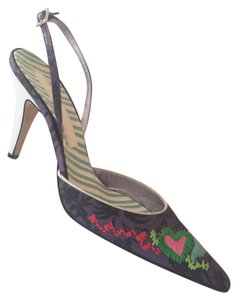 Christian Lacroix Purple Black Multi Pumps
