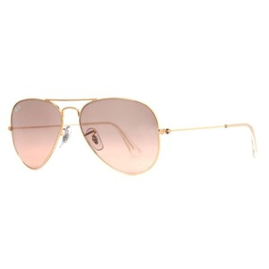 Ray-Ban Ray Ban RB 3025 001/3E Gold Frame Pink Silver Mirror Sunglasses