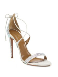 Aquazzura Linda Crystal-embellished Sandal Wedding Shoes