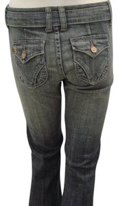 See Thru Soul Flare Leg Jeans-Medium Wash