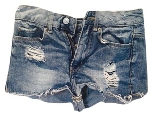 Divided by H&M High Waisted Distressed Summer Cut Off Shorts Denim