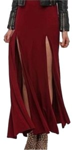 Urban Outfitters Maxi Skirt Maroon