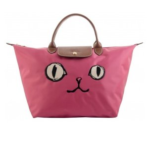 Longchamp Limited Edition Cat Face Tote in pink