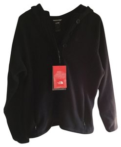 The North Face Hood Zipper Buttons Half-zip Coat