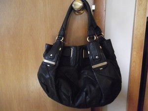 Juicy Couture Leather Hobo Satchel in Black