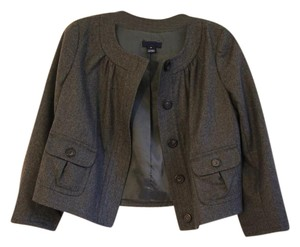 J.Crew Cropped Wool Invertedtriangle Gray Blazer