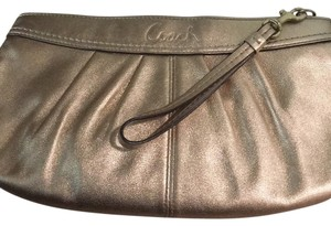 Coach Wristlet in Gold Foil