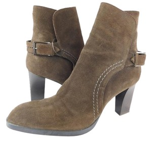 Tod's Ankle Bootie Boot Suede Brown Boots