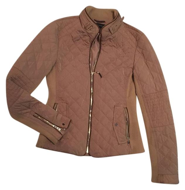 Item - Tan Quilted Nylon Jacket Size 4 (S)
