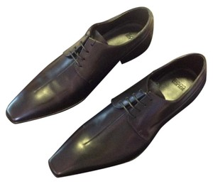 Hugo Boss Mens Leather 9 Black Flats