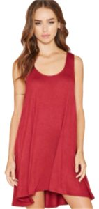 Forever 21 short dress Burgundy on Tradesy