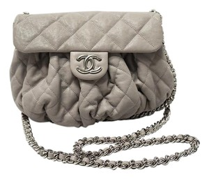 Chanel Light Grey Messenger Bag