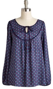 Modcloth Top Navy