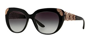 BVLGARI -NEW- BVLGARI WOMENS SUNGLASSES BV 8162 53838G BLACK