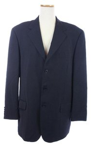 Paul Smith Navy Wool Made In Italy Blue Blazer