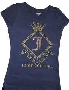 Juicy Couture Gold T Shirt Blue