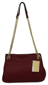 Michael Kors Leather Gold Hardware Chain Shoulder Bag