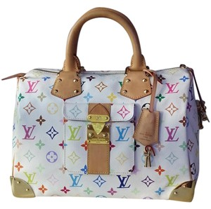 Louis Vuitton Speedy 30 Satchel in white multicolor
