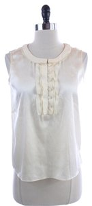 Talbots Lvory Silk Blend Sleeveless Top Ivory