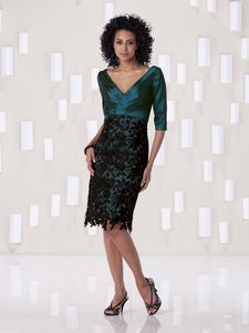 Kathy Ireland Teal W/Black Lace 2be269 Dress