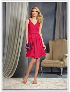 Alfred Angelo Pomegranate 7363 S Dress