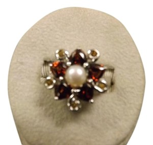 Ross-Simons Excellent Sterling Ross Simons Ring, Garnets, Pearls and Citrines!