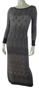 Gray & Beige Heather Maxi Dress by Anthropologie Sweater Nordic