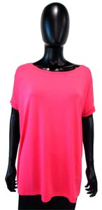 Piko 1988 Dolman Comfy Loose Casual T Shirt Hot Pink