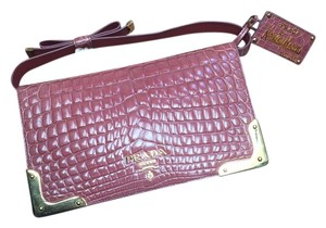 Prada Crocodile Exclusive Neiman Marcus Pink Clutch