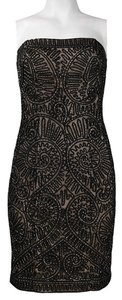 Sue Wong Beaded Strapless Lace Dress