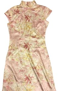 Qipao short dress pink Gucci Asian Prada Dolce Gabbana on Tradesy