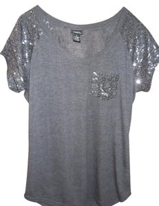 Rue 21 Sparkle T T Shirt black, dark grey