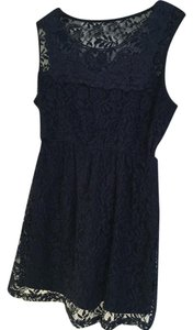 Motherhood Maternity Motherhood Maternity lace navy top