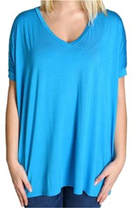 Piko 1988 Knit Soft Knit Comfy Casual T Shirt Dazzling Blue