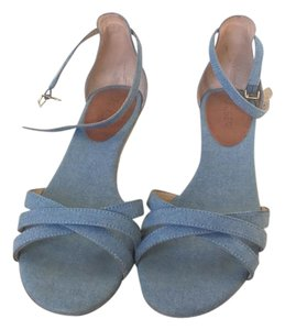 J.Crew Chambray Ankle Strap blue Sandals