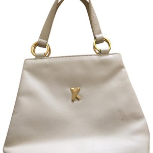 0256184 White Leather Hobo Bag