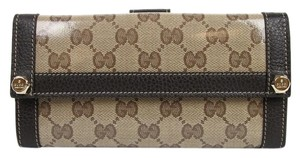 Gucci New Gucci Crystal GG Charmy Clutch Continental Wallet 231839 9903