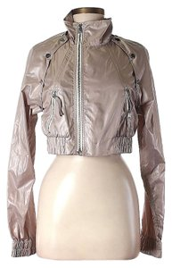 BCBGMAXAZRIA Cropped Faux Leather Leather Jacket