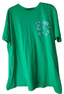 Express Men Xl Cotton Short Sleeves Surfboard Hibiscus Flowers T Shirt Green