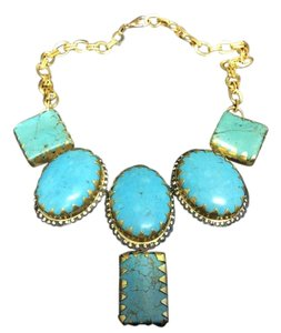 Turquoise Gemstone Gold Electro plated Necklace