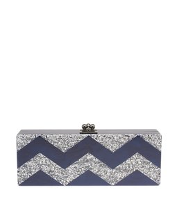 Edie Parker Mirrored Handmade Silver,Blue Clutch