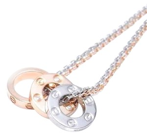 Cartier CARTIER LOVE WHITE GOLD ROSE GOLD DIAMONDS NECKLACE