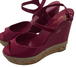Gucci Fuschia/Bright pink Wedges