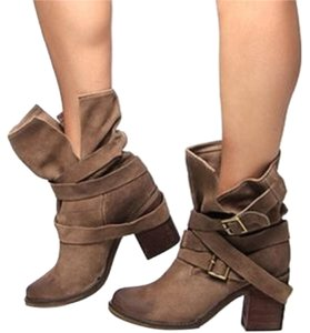 Jeffrey Campbell Suede Ankle Taupe Boots