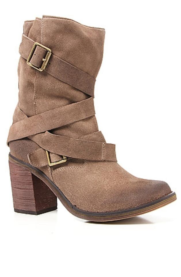 Jeffrey France Campbell Taupe France Jeffrey Strapped Suede Ankle Boots/Booties 9e0a21