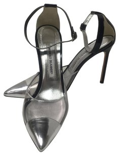 Manolo Blahnik Black & silver Pumps